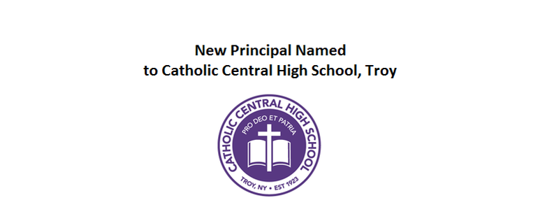 New Principal Named to Catholic Central High School, Troy